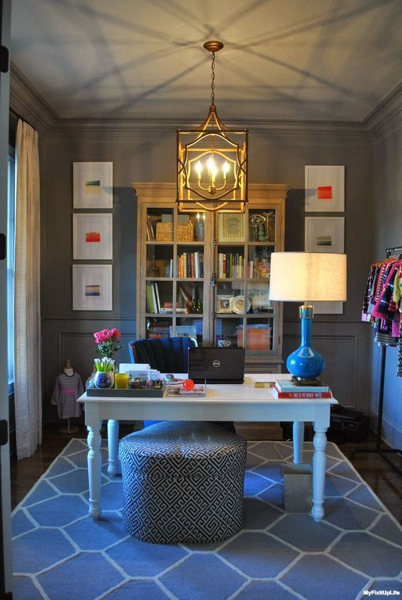 Use The Power Of Color To Make Your Home Office Hours More