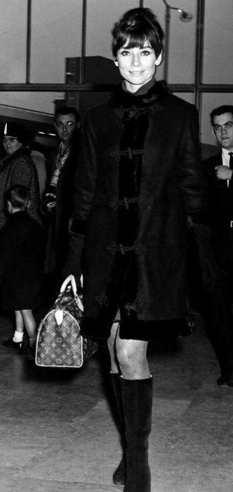 85342627b36d Audrey Hepburn with her Louis Vuitton Speedy 25. Hepburn found the Speedy  30 too large