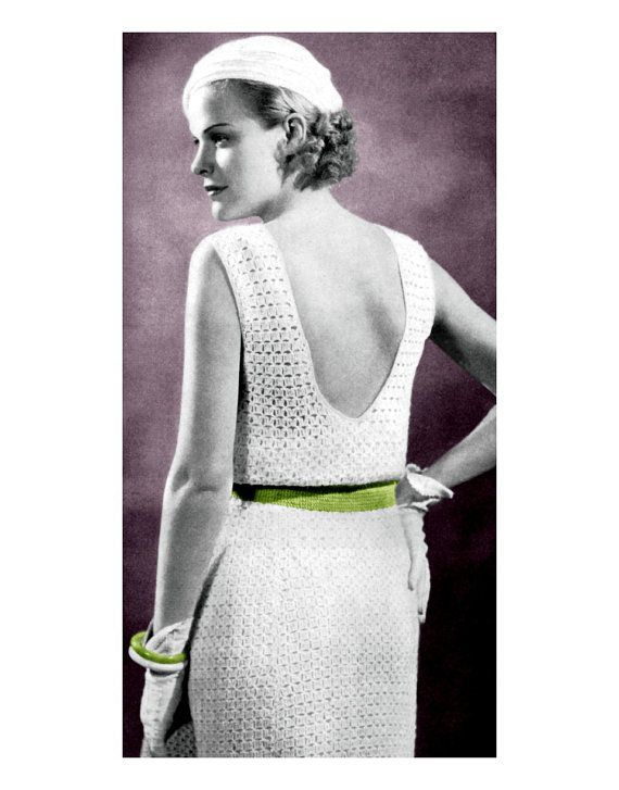 1930s Crocheted Dress Pattern! I must have this :D