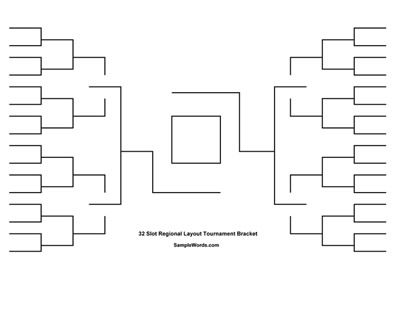 Free Printable  Team Tournament Bracket  Free Printable