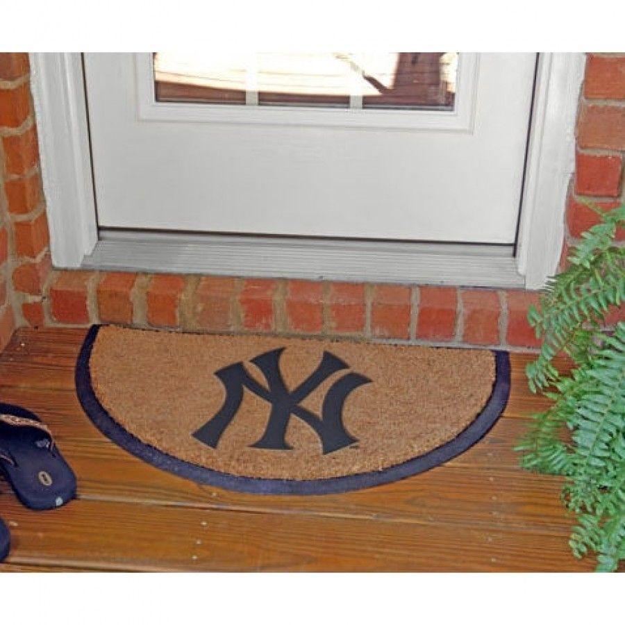 The Memory Company New York Yankees Half Moon Door Mat Mlb Nyy 827 Door Mat Mats Area Rugs