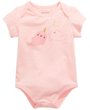 Cute Narwhal Narwhals Cute Short Sleeve Clothes for Boy Girl Dress Cotton T-Shirt Unique Bodysuit Romper,One-Piece Jumpsuit