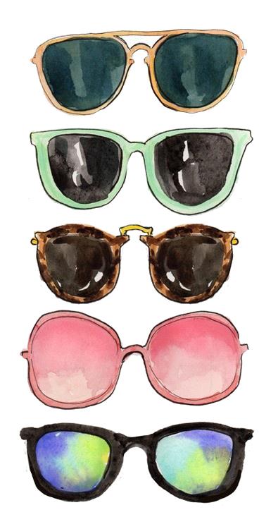 7e6c22886d0 watercolor sunglasses | art | Fashion art, Tumblr transparents ...