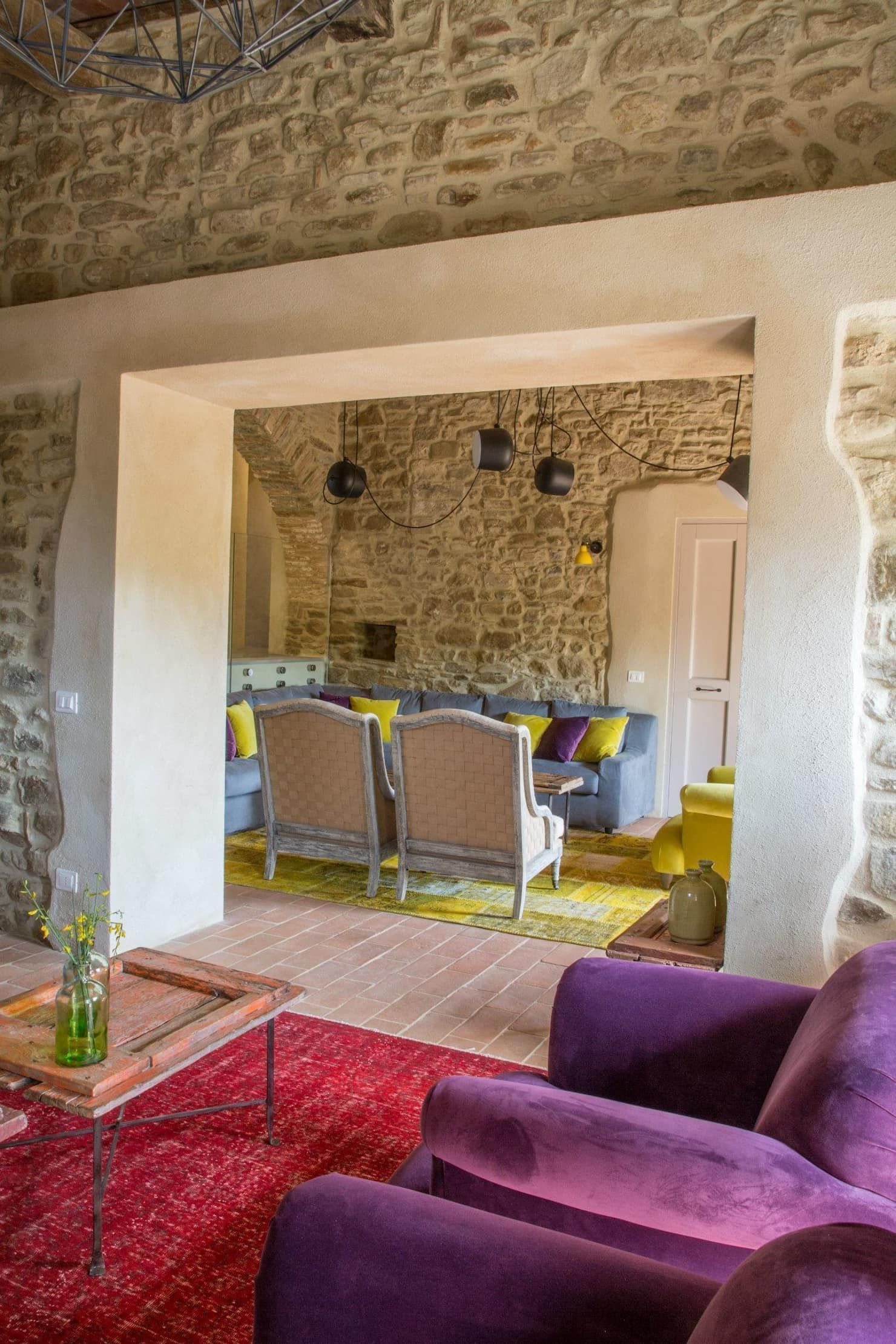 Cucina E Soggiorno Rustico casale specialumbria soggiorno in stile rustico di