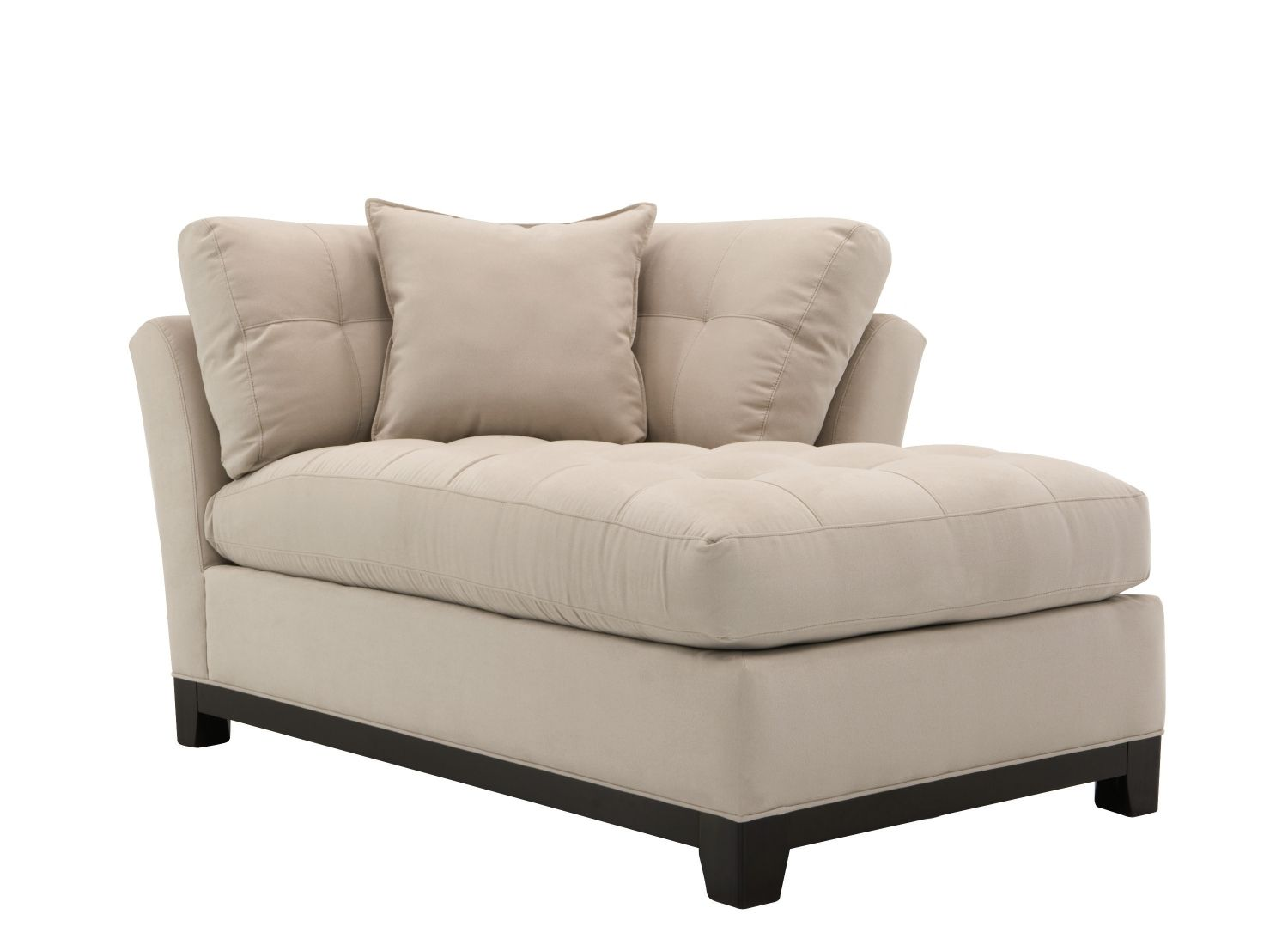 Cindy Crawford Home Metropolis Microfiber Right Arm Facing Chaise Lounge