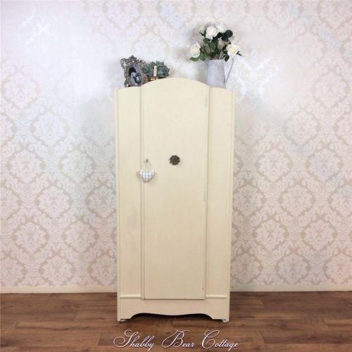 white wood wardrobe armoire shabby chic bedroom. Shabby Chic Wardrobe Armoire Painted Bedroom White French Louis Vintage Retro | EBay Wood