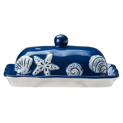 Coastal Butter Dish From Wayfair Beautiful Hand Painted Ceramic Serveware,  Inspired By The Shore