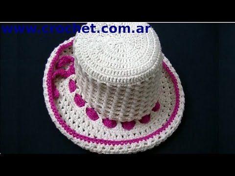 3886365abe8f7 Sombrero Punto Cruzado en tejido crochet tutorial paso a paso. - YouTube