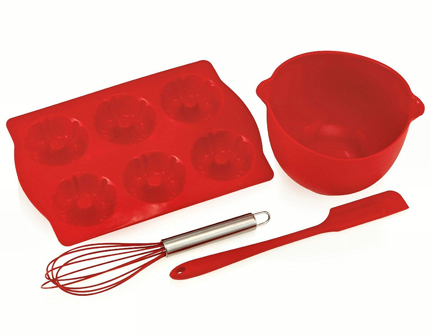 The Chefs Toolbox Junior 4 Piece Silicone Bake Set Additional