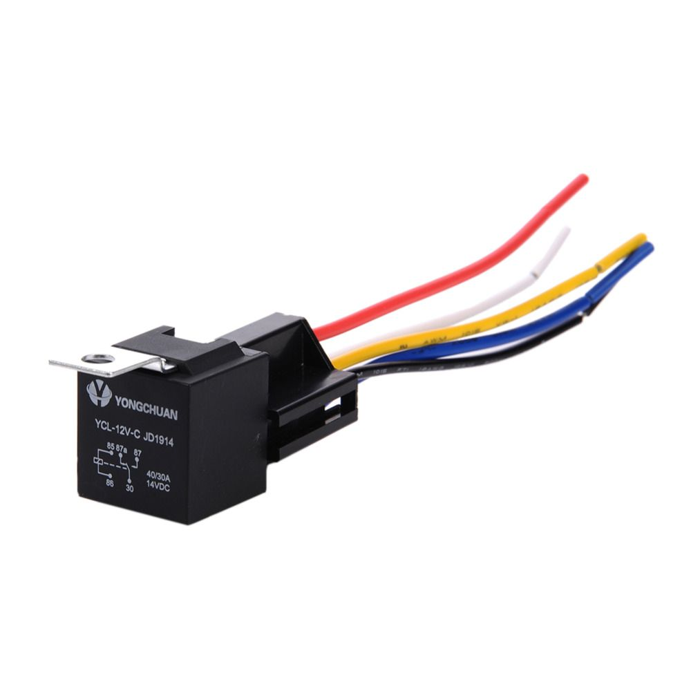 12v 30 40 A Amp 5 Pin 5p Automotive Harness Car Auto Relay Socket 5 Wire Relay With Wiring Auto Cars Trucks Car