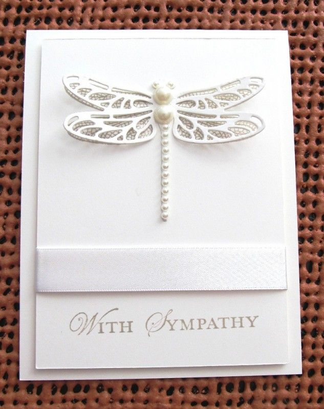 Dragonfly Sympathy by pamelak - Cards and Paper Cr