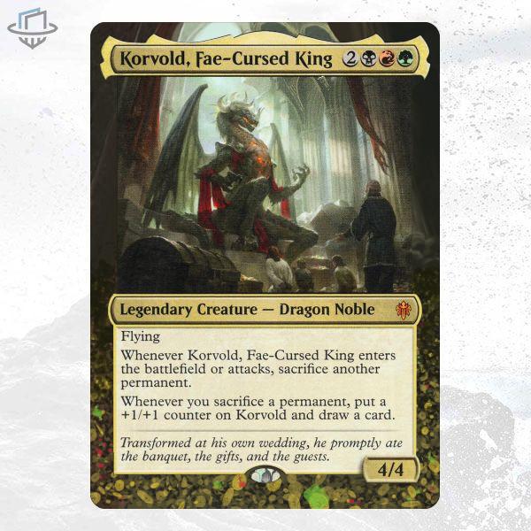 Korvold, FaeCursed King (Throne of Eldraine) Titartwork