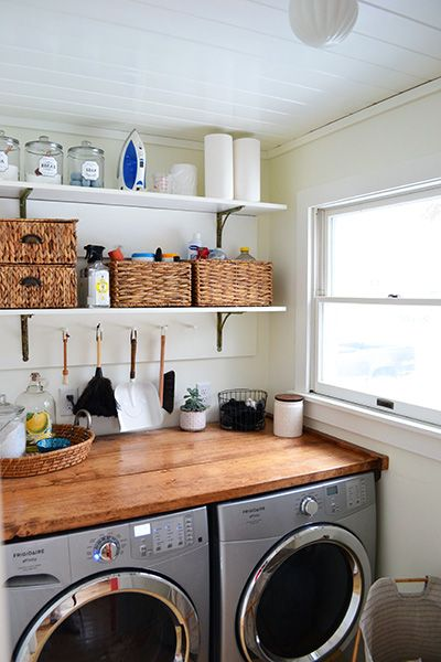 Our First House Laundry Room Before And After Rustic Laundry