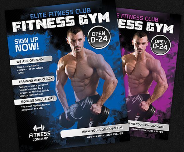 fitness gym flyer template free Poster Pinterest Flyer - Fitness Templates Free