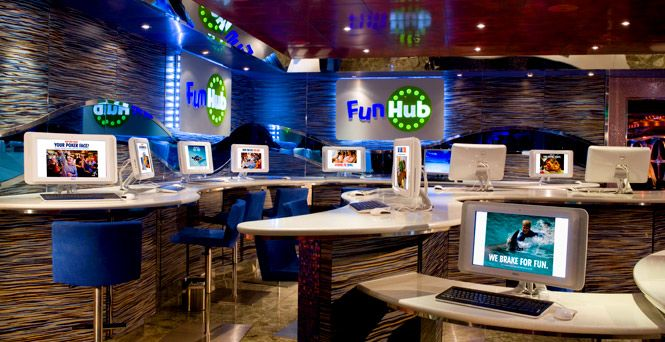 Right On Board The Carnival Cruise Ship In The Internet Cafe I - Cruise ship internet