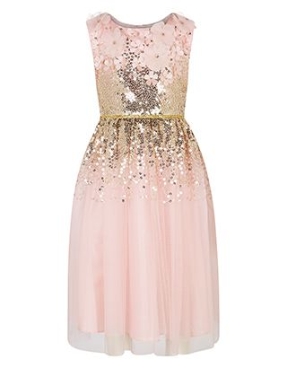 Malee Dress Monsoon Flowergirl Pink With Sparkles