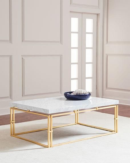 John Richard Collection Calabria Marble Top Coffee Table Marble