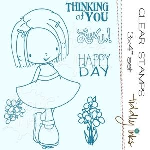 Tiddly Inks ELLIE SAYS BE HAPPY Clear Stamps TI046