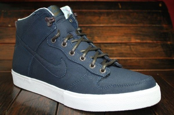 sale retailer ca2cf 95dec NIKE DUNK HI AC CANVAS - Navy colorway