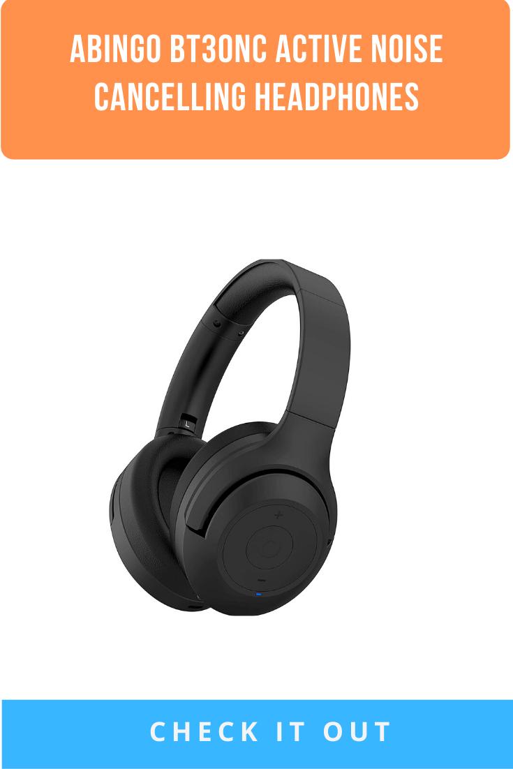 Abingo Bt30nc Active Noise Cancelling Headphones Wireless Headphones With Mircophone Stereo Good Bass Bluetooth Headphones 2020 Noise Cancelling Headphones