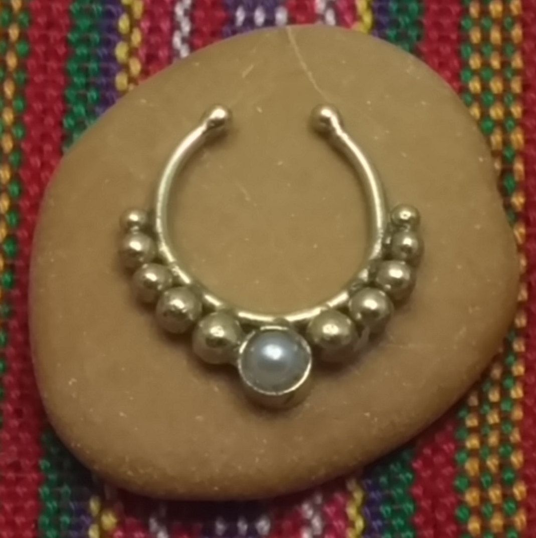Fake Septum Christmas sale -Fake Nose ring - Fake Septum Nose Ring -Fake  Ring - Fake Nose Hoop - Fake Septum Ring - Fake  Piercing by opaljewells on Etsy