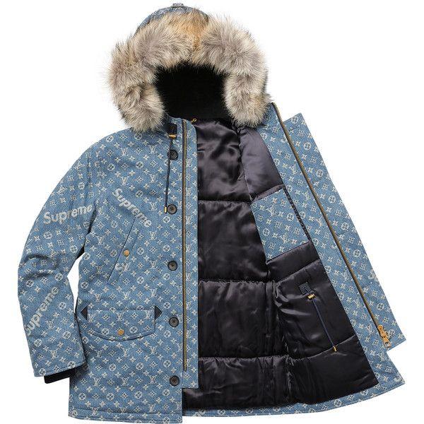 7458816f3 Supreme Louis Vuitton/Supreme Jacquard Denim N-3B Parka ❤ liked on ...