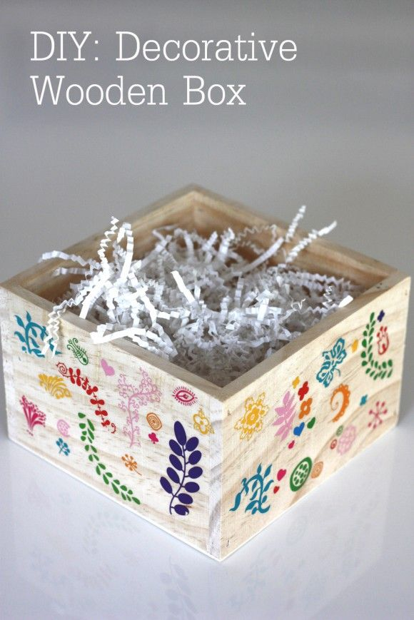 Decorated Wooden Boxes Diy Decorative Wooden Box For Easter  Decorative Wooden Boxes