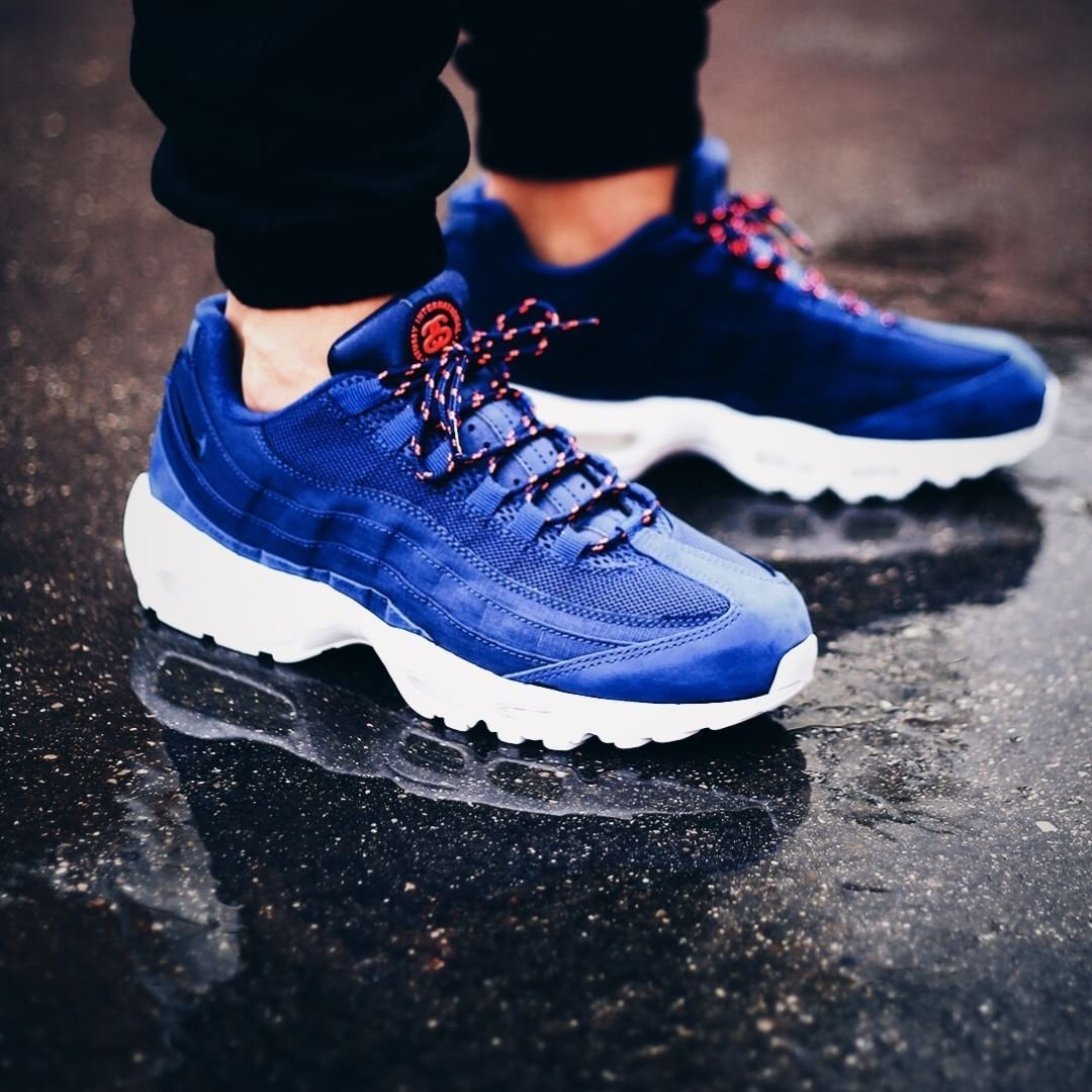stussy air max 95 mens red