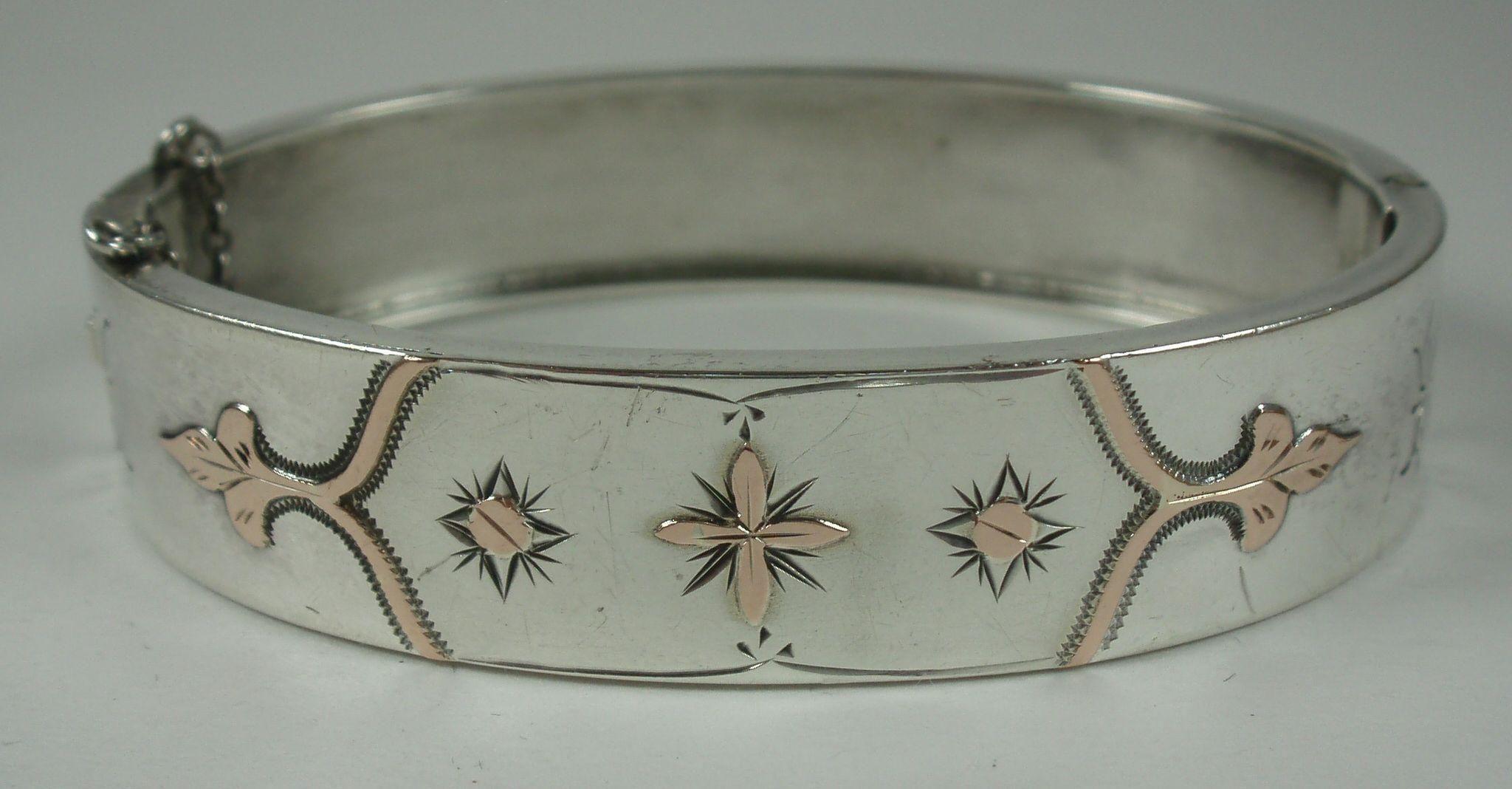 Antique french silver u rose gold bracelet bracelets gold and rose