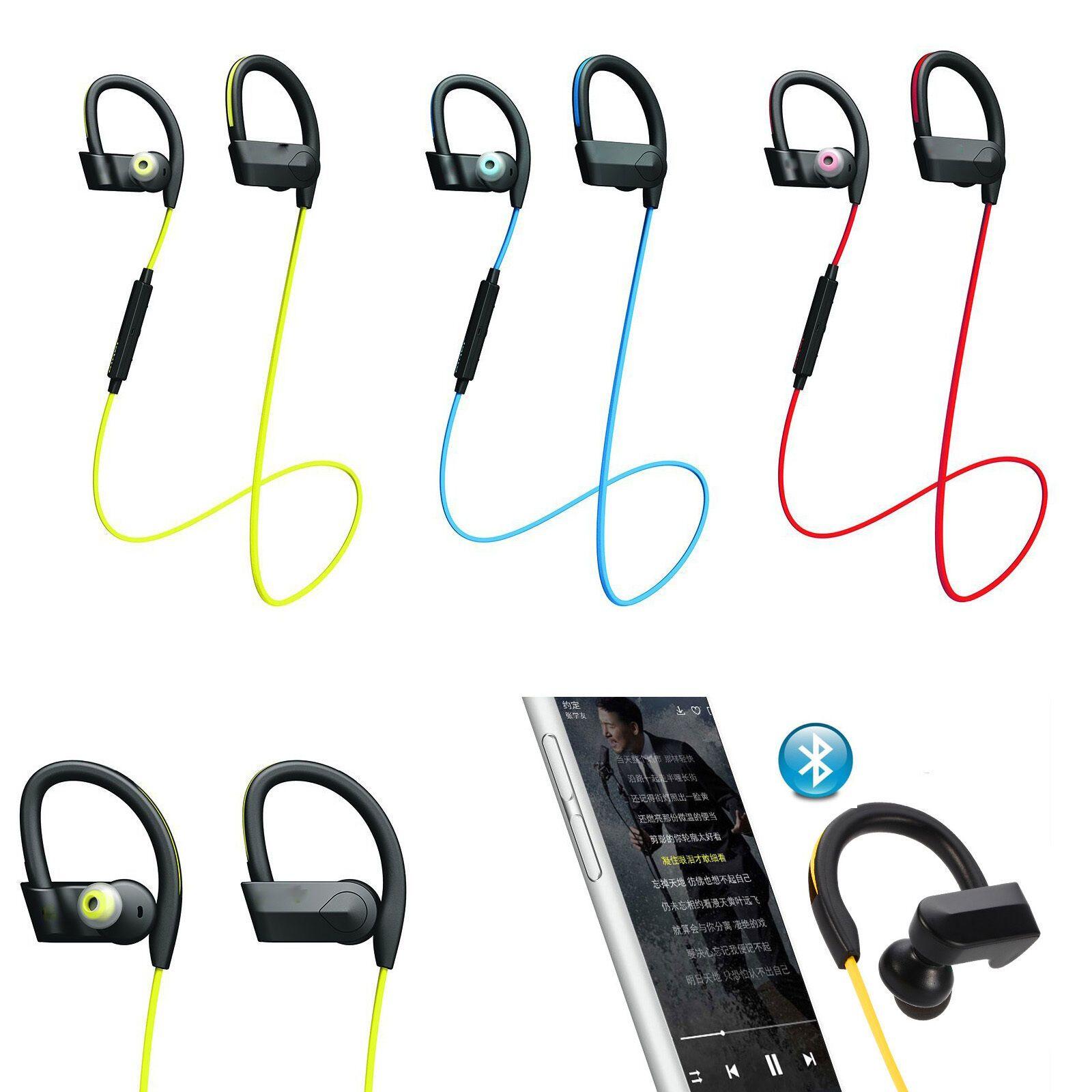 Sweatproof Sports Bluetooth Earbuds Headset Headphone for