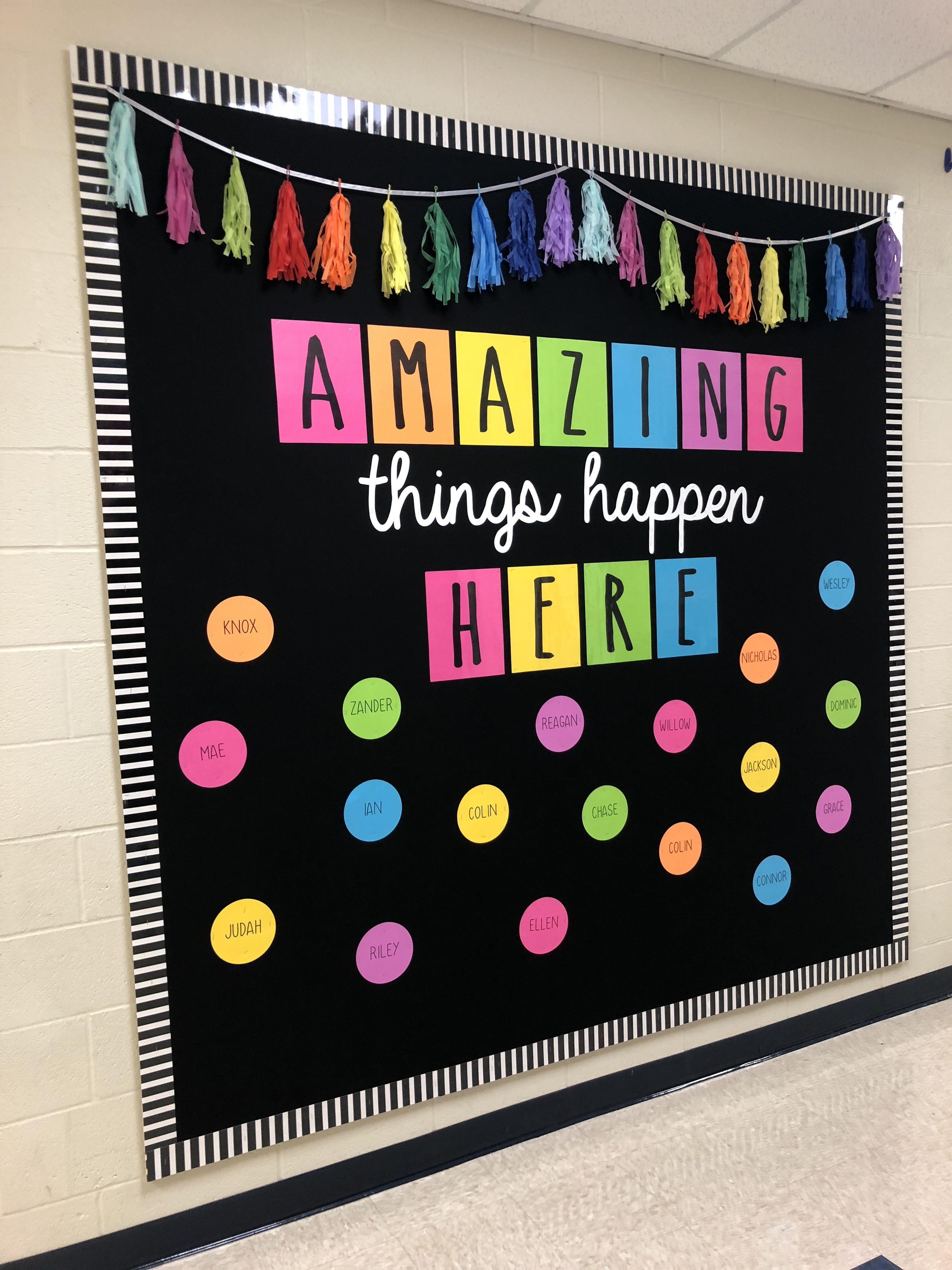 Colorful Bulletin Board In 2020 Diy Classroom Decorations Classroom Board Diy Classroom