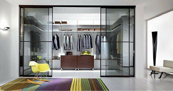 Schiebetür Begehbarer Kleiderschrank begehbarer kleiderschrank planen glas schiebetüren teppich streifen