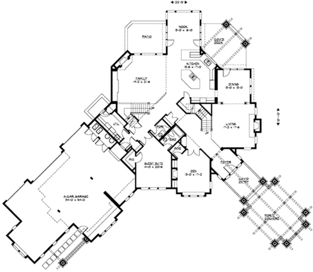 Main Floor Plan bungalow/craftsman