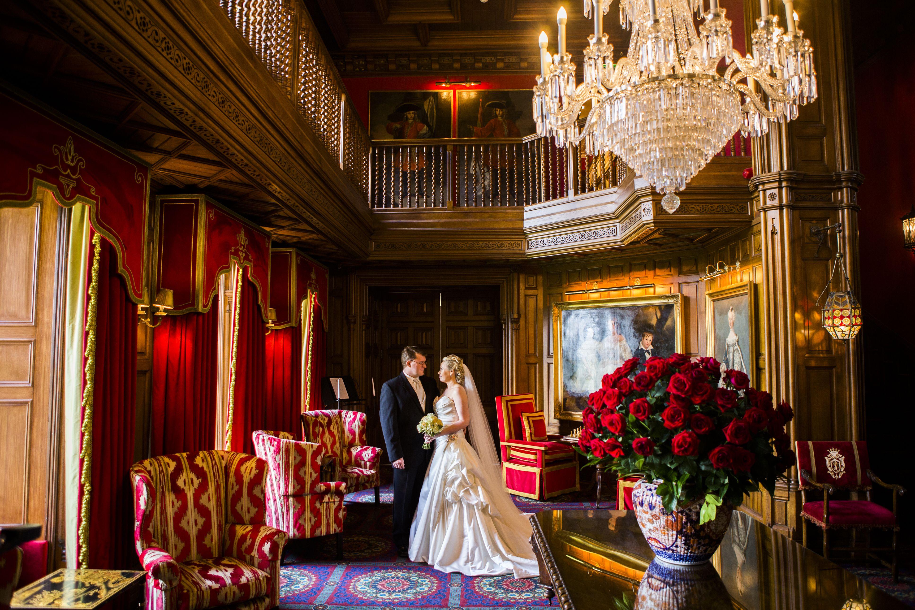 Castle wedding IrelandStunning lobby in Ashford Castle