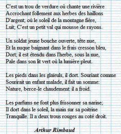 Le Dormeur Du Val Arthur Rimbaud Quotes Citations Pinterest