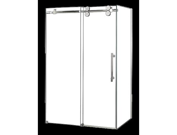Porte de douche et panneau vitr coulissante 36 x60 bain for Porte 36 pouces