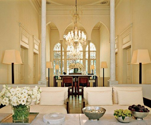 The two words that instantly came to mind when i first saw the images of fashion designer elie saabs home in beirut