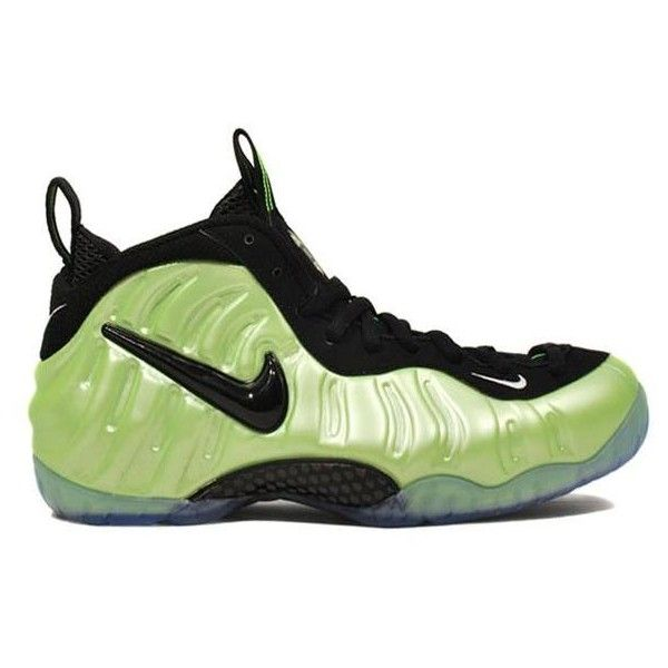 official photos d6591 8956b Nike Air Foamposite Pro LE Electric Green Black White found on Polyvore