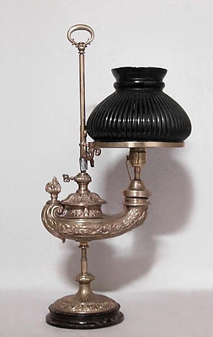 American Victorian Lighting Student Lamp Brass Victorian