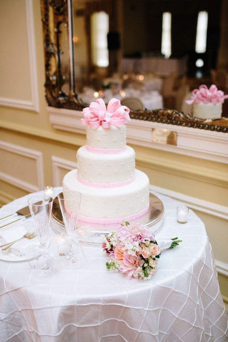 Pink And White Wedding Cake Chelsea Anderson Photography Https Www Theknot Marketplace Norfolk Va 765038