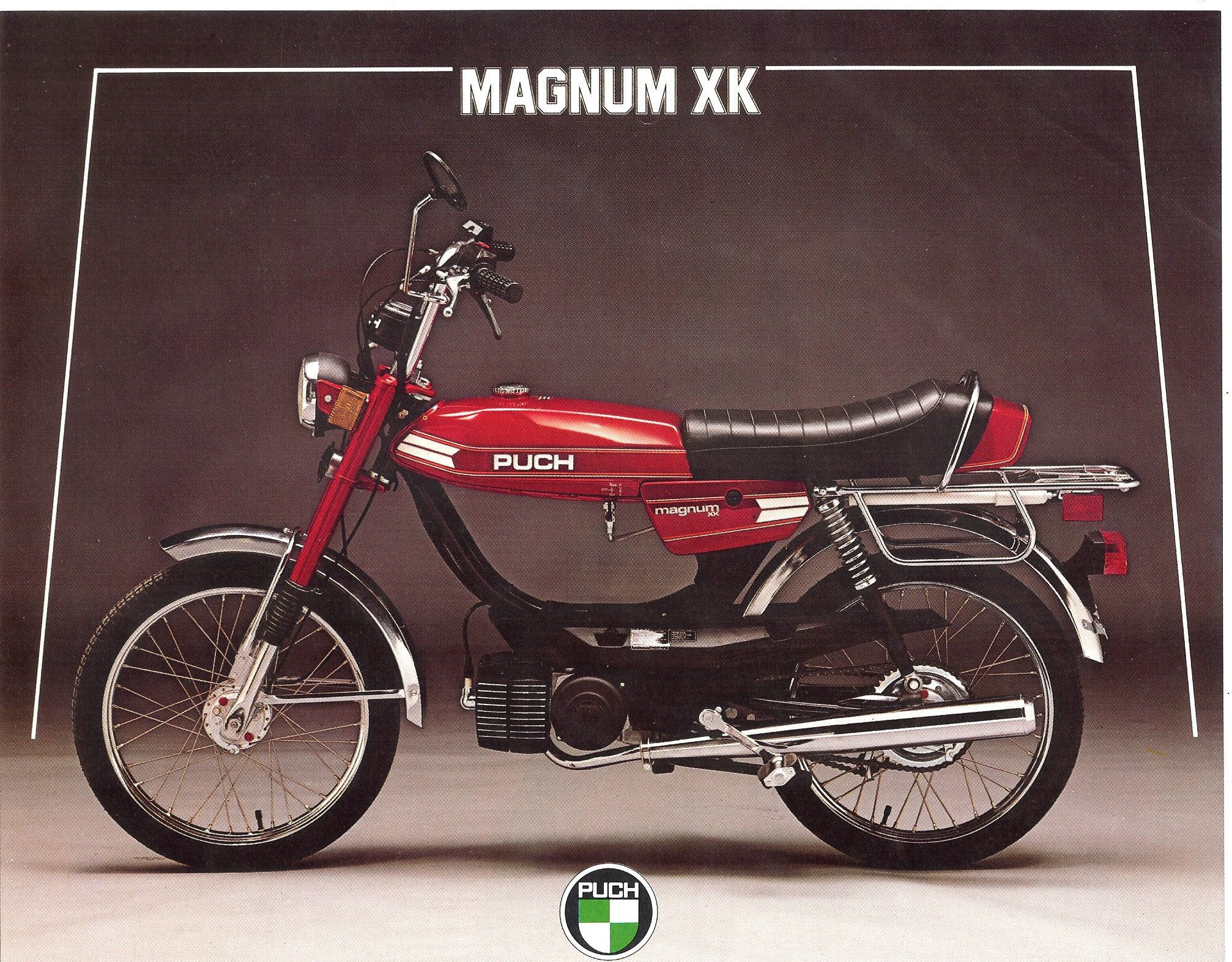 puch magnum xk Mini Bike, Small Motorcycles, Mopeds, Brochures