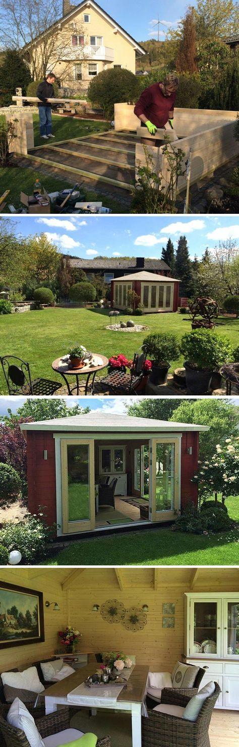 Ein Gartenhaus mit weitem Ausblick Sunshine40 wird