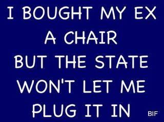 a chair...