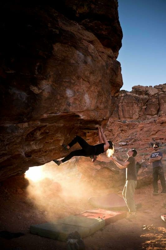 gorgeous light and bouldering