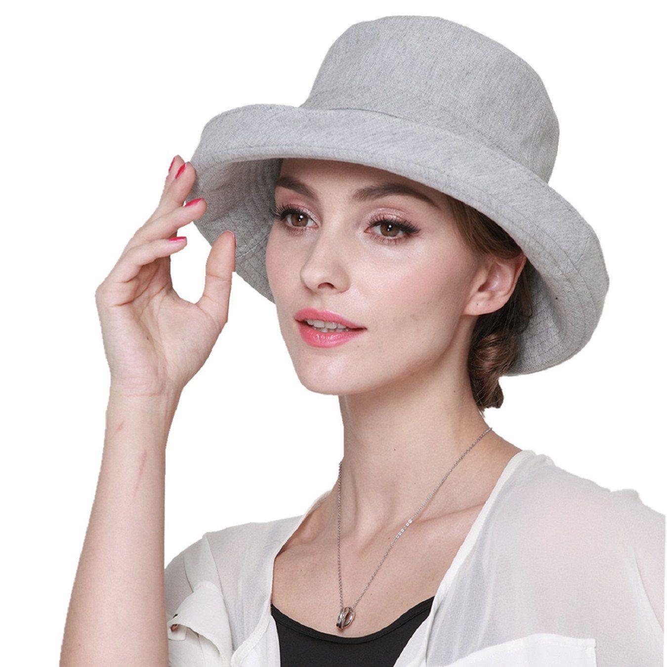 Floppy Foldable Ladies Women Straw Beach Sun Summer Hat Beige Wide Brim Summ JAU