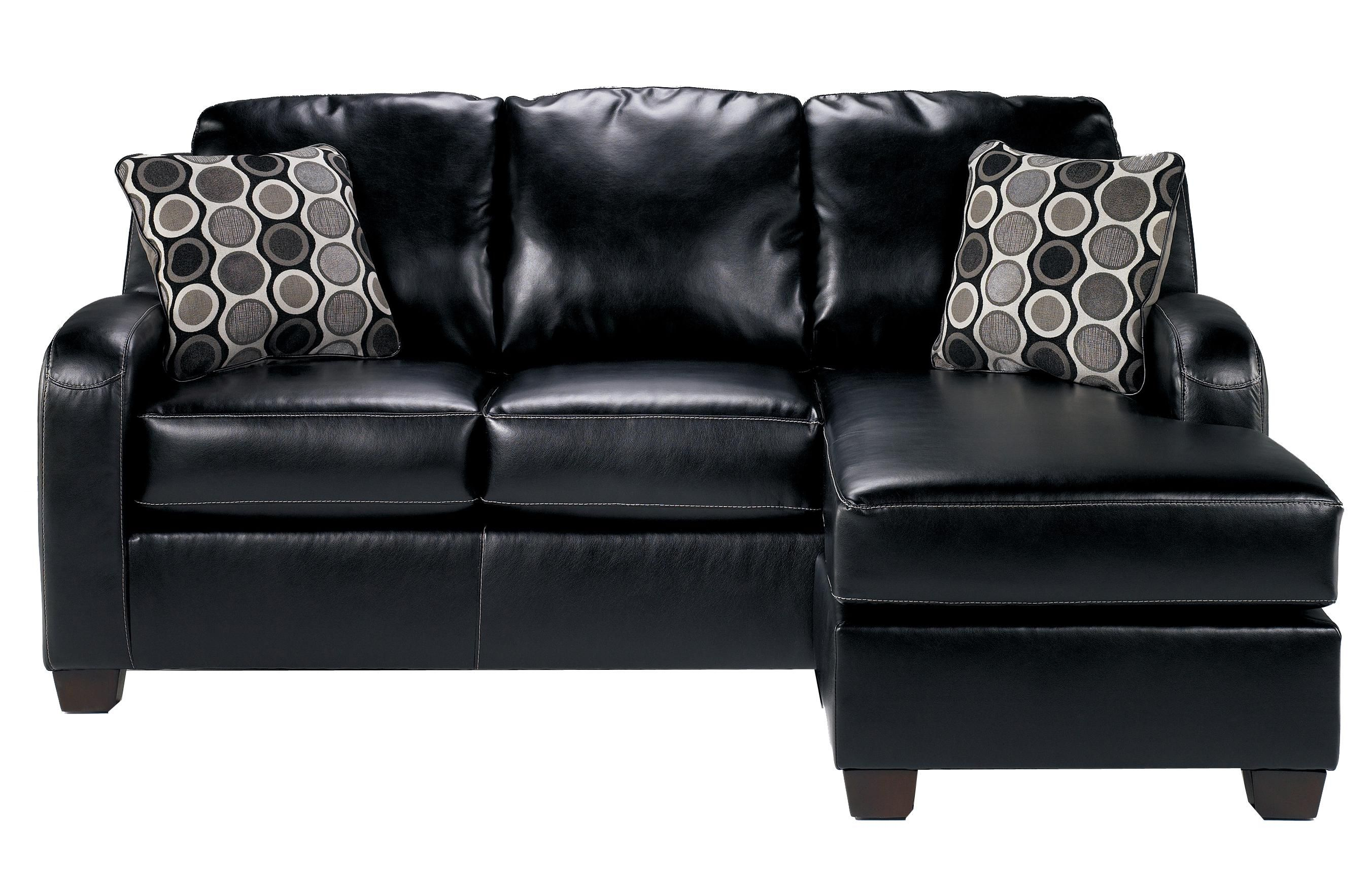 Devin DuraBlend   Black Sofa Chaise By Signature Design By Ashley