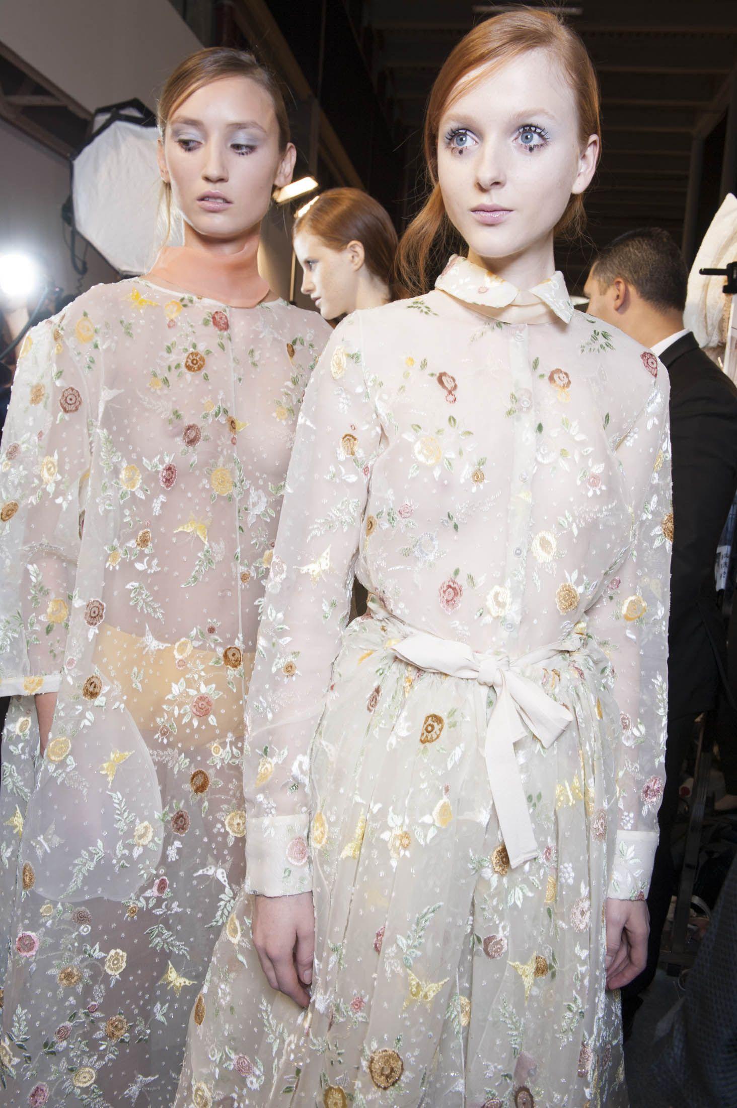 Backstage Pass: Paris Fashion Week Spring 2015 - Backstage at Rochas Spring 2015
