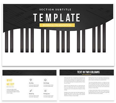 Notation for beginners musicians Keynote templates