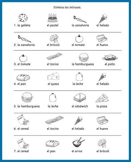 18++ Best of spanish vocab worksheets Most Effective
