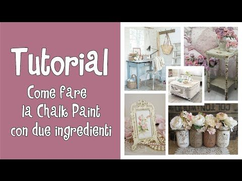 Tutorial Pittura Shabby Chic : Tutorial come fare la chalk paint con due ingredienti ^